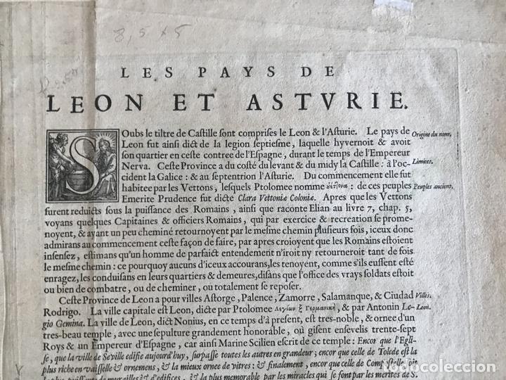 Arte: Gran mapa a color de Asturias, Cantabria, Castilla y León (España), 1652. Wilhelm Blaeu - Foto 12 - 171240674