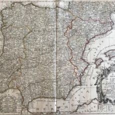 Arte: GRAN MAPA DE ESPAÑA Y PORTUGAL, 1740. JEAN-BAPTISTE NOLIN. Lote 171260674