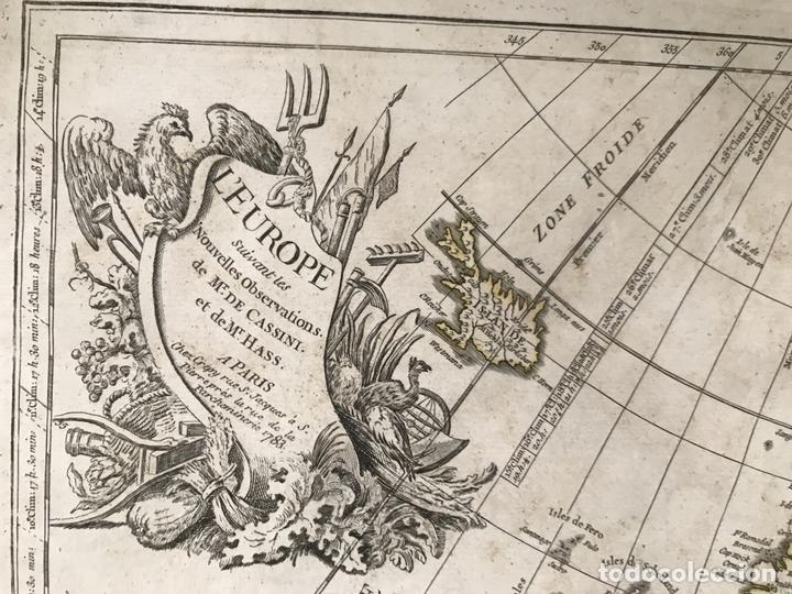 Arte: Gran mapa de Europa, 1783. Cassini/Haas/Crepy - Foto 2 - 171310687