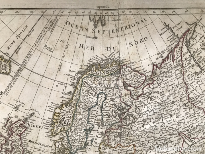 Arte: Gran mapa de Europa, 1783. Cassini/Haas/Crepy - Foto 4 - 171310687