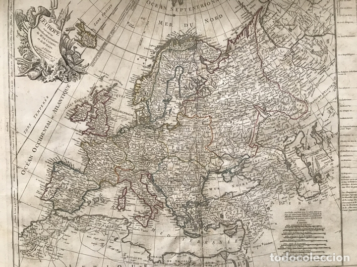 Arte: Gran mapa de Europa, 1783. Cassini/Haas/Crepy - Foto 11 - 171310687