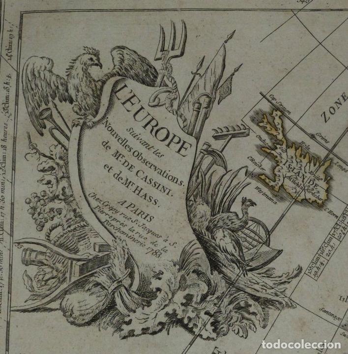 Arte: Gran mapa de Europa, 1783. Cassini/Haas/Crepy - Foto 14 - 171310687