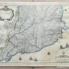 Arte: MAPA DE CATALUNYA - BLAEU - AÑO 1642 - ORIGINAL. Lote 171359429