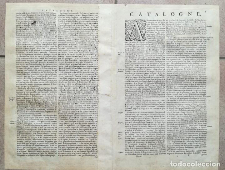 Arte: MAPA DE CATALUNYA - BLAEU - AÑO 1642 - ORIGINAL - Foto 2 - 171359429