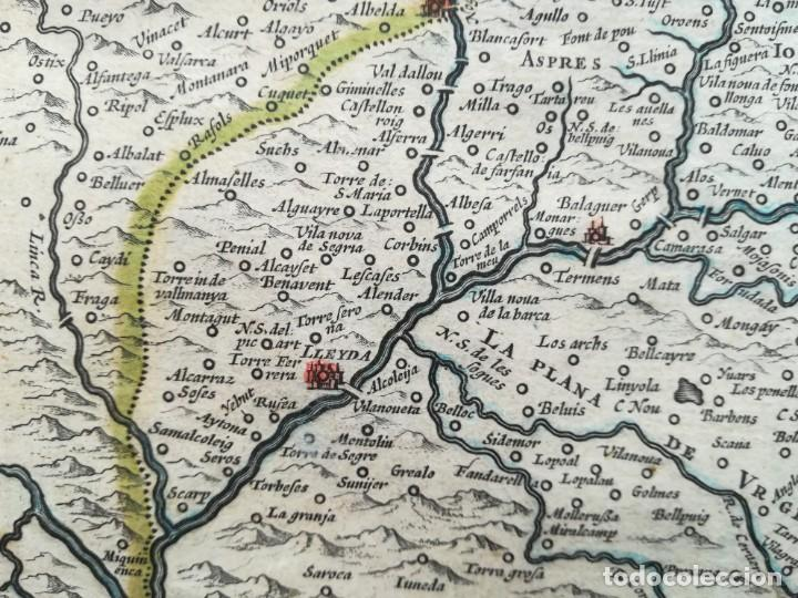 Arte: MAPA DE CATALUNYA - BLAEU - AÑO 1642 - ORIGINAL - Foto 9 - 171359429