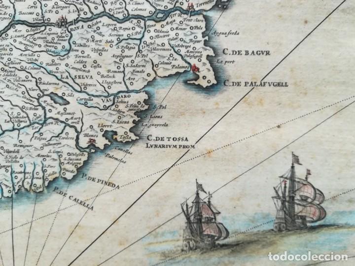 Arte: MAPA DE CATALUNYA - BLAEU - AÑO 1642 - ORIGINAL - Foto 10 - 171359429