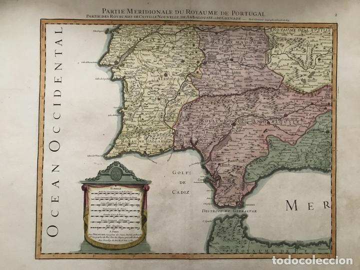 GRAN MAPA DEL SUR DE PORTUGAL Y SUROESTE DE ESPAÑA, 1781. JAILLOT/DEZAUCHE (Arte - Cartografía Antigua (hasta S. XIX))