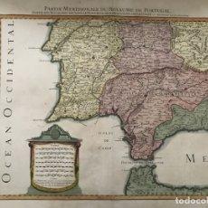 Arte: GRAN MAPA DEL SUR DE PORTUGAL Y SUROESTE DE ESPAÑA, 1781. JAILLOT/DEZAUCHE. Lote 171451964