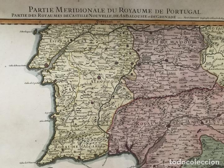 Arte: Gran mapa del sur de Portugal y Suroeste de España, 1781. Jaillot/Dezauche - Foto 4 - 171451964