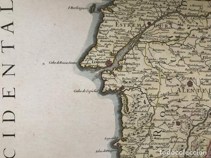Arte: Gran mapa del sur de Portugal y Suroeste de España, 1781. Jaillot/Dezauche - Foto 5 - 171451964