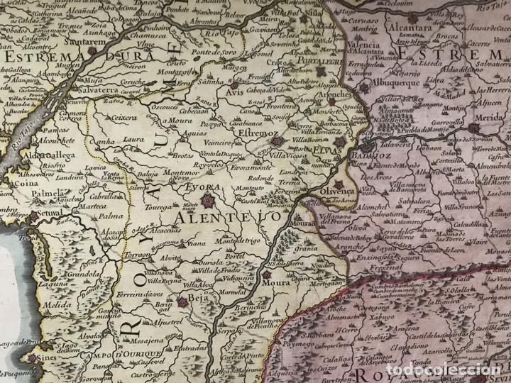 Arte: Gran mapa del sur de Portugal y Suroeste de España, 1781. Jaillot/Dezauche - Foto 6 - 171451964
