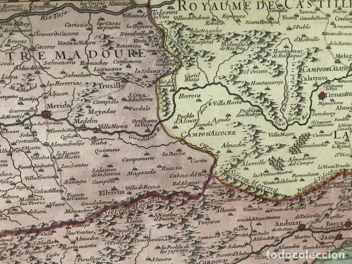 Arte: Gran mapa del sur de Portugal y Suroeste de España, 1781. Jaillot/Dezauche - Foto 7 - 171451964