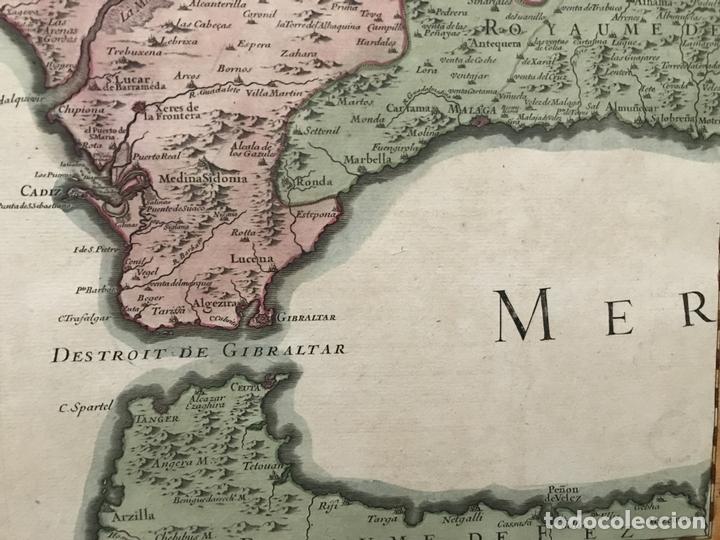 Arte: Gran mapa del sur de Portugal y Suroeste de España, 1781. Jaillot/Dezauche - Foto 9 - 171451964