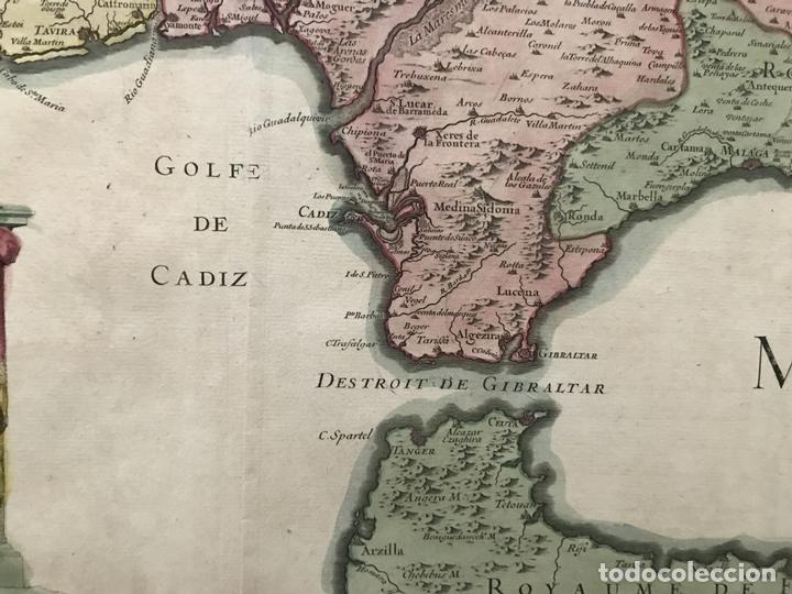 Arte: Gran mapa del sur de Portugal y Suroeste de España, 1781. Jaillot/Dezauche - Foto 10 - 171451964