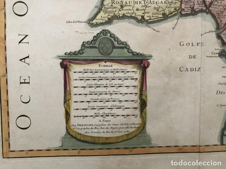 Arte: Gran mapa del sur de Portugal y Suroeste de España, 1781. Jaillot/Dezauche - Foto 11 - 171451964
