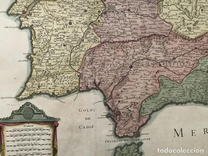 Arte: Gran mapa del sur de Portugal y Suroeste de España, 1781. Jaillot/Dezauche - Foto 13 - 171451964