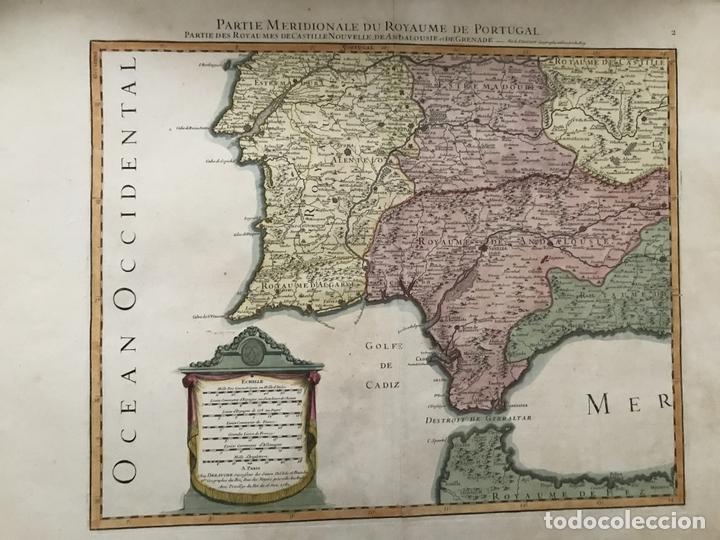 Arte: Gran mapa del sur de Portugal y Suroeste de España, 1781. Jaillot/Dezauche - Foto 14 - 171451964