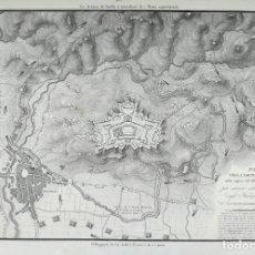 Arte: MAPA ASEDIO DE FIGUERES (GIRONA) AL CASTILLO - VACANI - AÑO 1808 - GUERRA DEL FRANCES. Lote 171680554