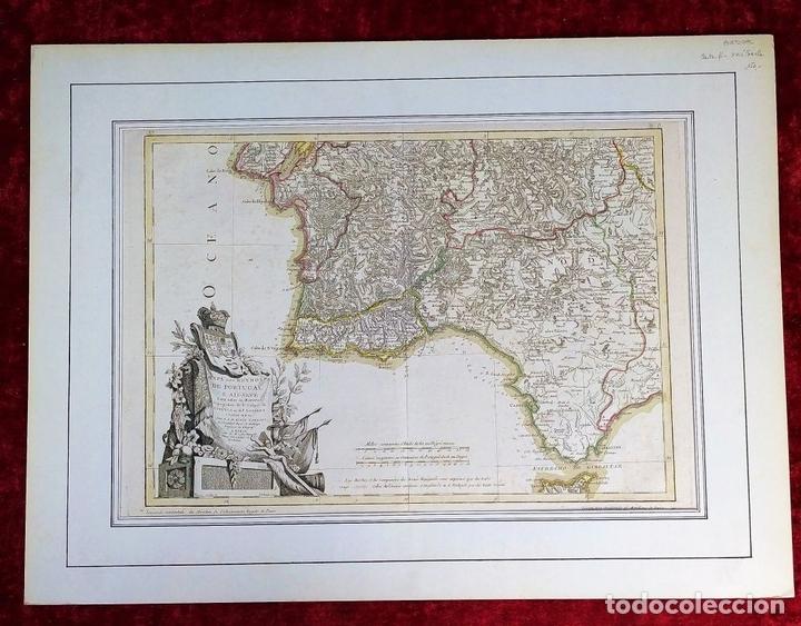 Arte: MAPA DOS REYNOS DE PORTUGAL E ALGARVE. MAPA. GRABADO. LALTRÉ. PARIS. FRANCIA. XVIII - Foto 2 - 172296525