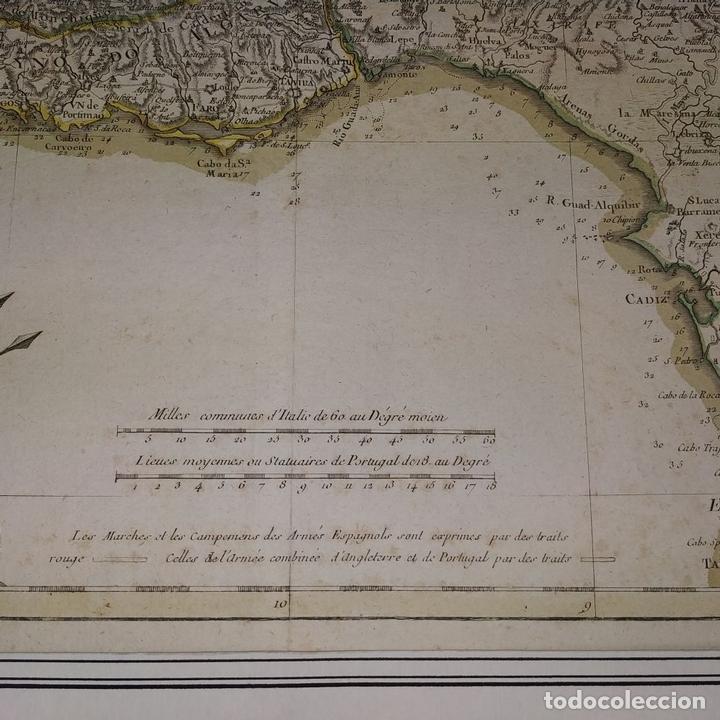 Arte: MAPA DOS REYNOS DE PORTUGAL E ALGARVE. MAPA. GRABADO. LALTRÉ. PARIS. FRANCIA. XVIII - Foto 4 - 172296525