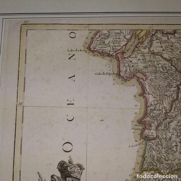Arte: MAPA DOS REYNOS DE PORTUGAL E ALGARVE. MAPA. GRABADO. LALTRÉ. PARIS. FRANCIA. XVIII - Foto 5 - 172296525