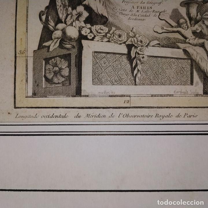 Arte: MAPA DOS REYNOS DE PORTUGAL E ALGARVE. MAPA. GRABADO. LALTRÉ. PARIS. FRANCIA. XVIII - Foto 8 - 172296525