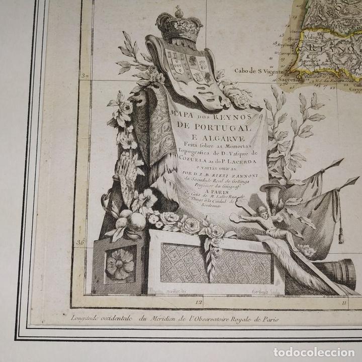 Arte: MAPA DOS REYNOS DE PORTUGAL E ALGARVE. MAPA. GRABADO. LALTRÉ. PARIS. FRANCIA. XVIII - Foto 9 - 172296525