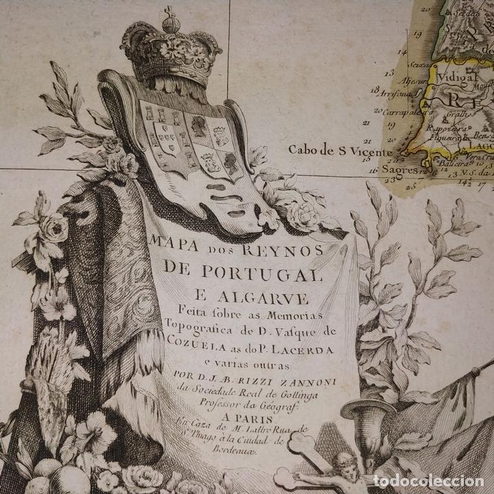 Arte: MAPA DOS REYNOS DE PORTUGAL E ALGARVE. MAPA. GRABADO. LALTRÉ. PARIS. FRANCIA. XVIII - Foto 10 - 172296525