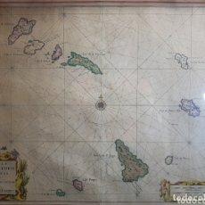 Arte: CARTOGRAFIA NAUTICA ISLAS CABO VERDE POR SOUTE EYLANDEN. Lote 172354468