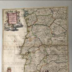 Arte: GRAN MAPA DE PORTUGAL (EUROPA), 1700. T. DANCKERTS. Lote 172365555