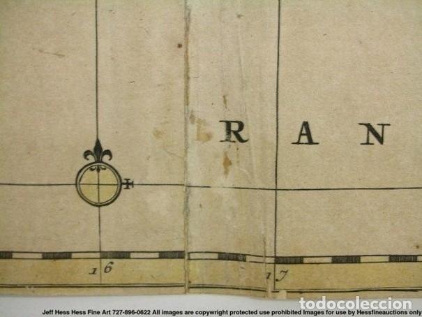 Arte: Gran mapa a color de Portugal y España, hacia 1680. Frederick de Witt - Foto 32 - 172369059