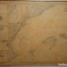 Arte: MAPA ISLAS BALEARES ANTIGUO 1900. Lote 172413299