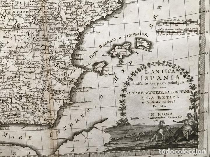Arte: Gran mapa de España y Portugal antiguos, 1799. Giovanni María Cassini - Foto 5 - 172428082