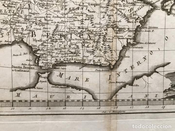 Arte: Gran mapa de España y Portugal antiguos, 1799. Giovanni María Cassini - Foto 7 - 172428082