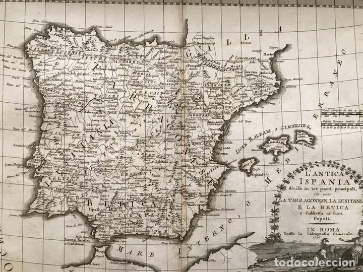 Arte: Gran mapa de España y Portugal antiguos, 1799. Giovanni María Cassini - Foto 12 - 172428082