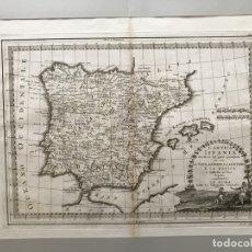 Arte: GRAN MAPA DE ESPAÑA Y PORTUGAL ANTIGUOS, 1799. GIOVANNI MARÍA CASSINI. Lote 172428082