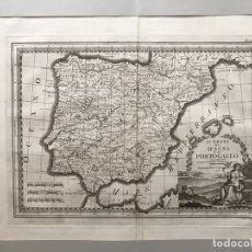 Arte: GRAN MAPA DE ESPAÑA Y PORTUGAL, 1798. GIOVANNI MARIA CASSINI. Lote 172428918