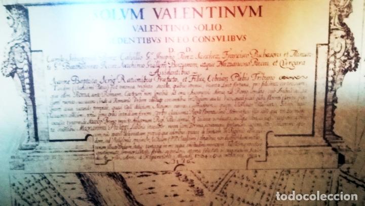 Arte: Cuadro con Grabado de - Antigua VALENTIA EDETANORUM de Tomas Vicente Tosca - Impreso en 1972-110 x80 - Foto 6 - 172586457