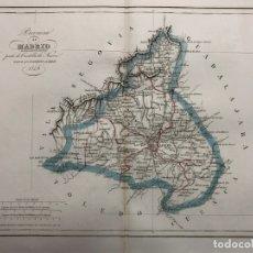 Arte: MAPA DE LA PROVINCIA DE MADRID GRABADO POR R. ALABERN Y E. MABON. 1849. Lote 173201015
