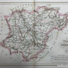 Arte: MAPA DE LA PROVINCIA DE TERUEL. GRABADO POR R. ALABERN Y E. MABON. 1847. Lote 173401583