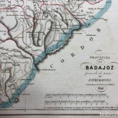 Arte: MAPA DE LA PROVINCIA DE BADAJOZ. GRABADO POR R. ALABERN Y E. MABON. 1846. Lote 173512215