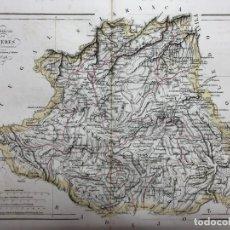 Arte: MAPA DE LA PROVINCIA DE CACERES. GRABADO POR R. ALABERN Y E. MABON. 1846. Lote 173512878