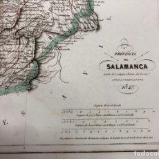 Arte: MAPA DE LA PROVINCIA DE SALAMANCA. GRABADO POR R. ALABERN Y E. MABON. 1847. Lote 173748814