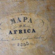 Arte: MAPA DE AFRICA GRABADO EN BARCELONA POR RAMÓN ALABERN EN1845. Lote 173821609