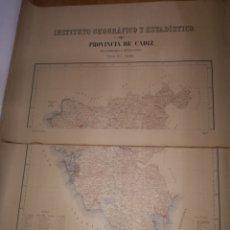Arte: MAPA PROVINCIA DE CADIZ INSTITUTO GEOGRAFICO Y ESTADISTICO.AÑO 1916.MEDIDAS.102X126 CM. Lote 173846732