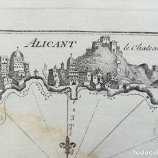 Arte: MAPA DE ALICANTE - CARTA NAUTICA - ROUX - AÑO 1800. Lote 174294493