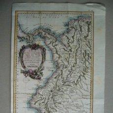 Arte: GRAN MAPA DE COLOMBIA, ECUADOR, PANAMÁ... (AMÉRICA), 1790. ROBERTSON/TARDIEU. Lote 174443502