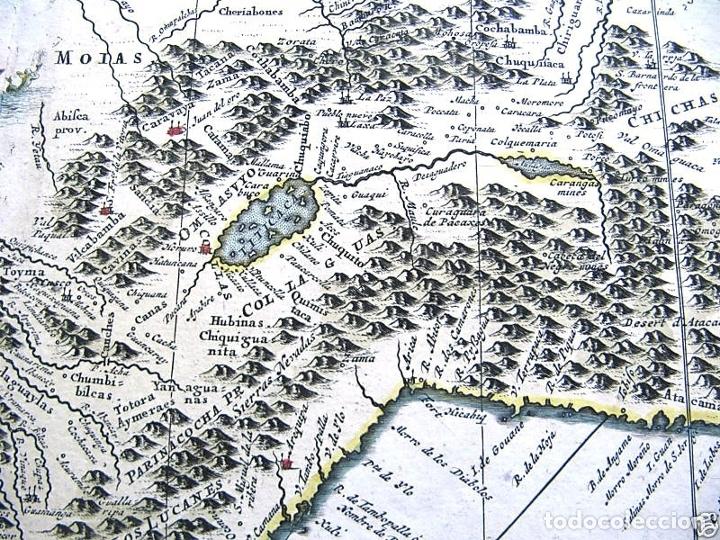 Arte: Mapa del litoral de Ecuador, Perú y Chile (América del sur), 1720. P. van der Aa/Covens y Mortier - Foto 5 - 174626279