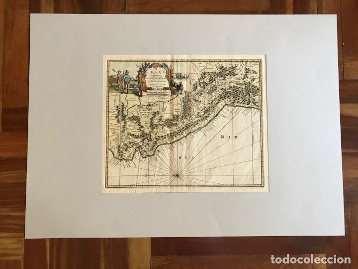 Arte: Mapa del litoral de Ecuador, Perú y Chile (América del sur), 1720. P. van der Aa/Covens y Mortier - Foto 6 - 174626279