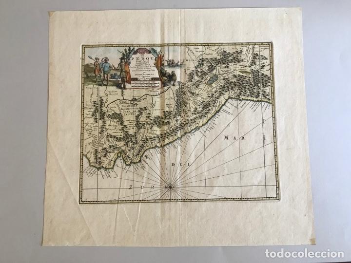Arte: Mapa del litoral de Ecuador, Perú y Chile (América del sur), 1720. P. van der Aa/Covens y Mortier - Foto 8 - 174626279
